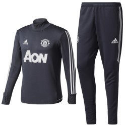 Manchester United dark grey training tech tracksuit 2017/18 - Adidas