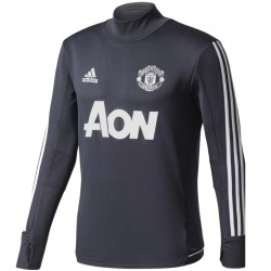 Manchester United dark grey training tech sweatshirt 2017/18 - Adidas