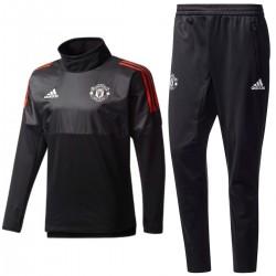 Manchester United black Eu training tech tracksuit 2017/18 - Adidas