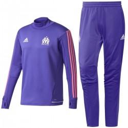 Olympique Marseille violet Eu training tech tracksuit 2017/18 - Adidas
