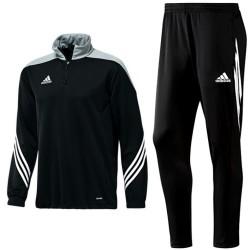 Adidas Teamwear Sereno 14 technical training tracksuit - black/grey