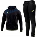 Joma Teamwear Granada training hooded tracksuit - black/blue/fluo