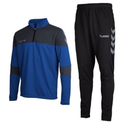 Hummel Teamwear Sirius technical trainingsanzug - blau/schwarz