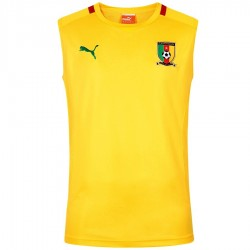 Cameroon national team yellow training sleeveless shirt 2016 - Puma
