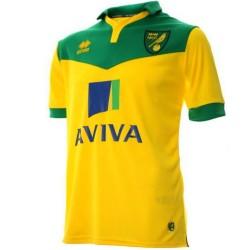Norwich City FC Home Fußball Trikot 2014/15 - Errea