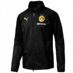 BVB Borussia Dortmund black players rain jacket 2017/18 - Puma