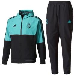 Chandal de presentacion Real Madrid 2018 negro light blue - Adidas 72ce6553952f5