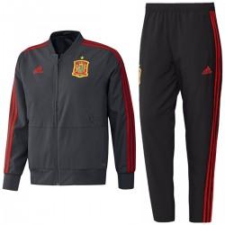 Spanien fußball präsentationsanzug 2018/19 grau - Adidas