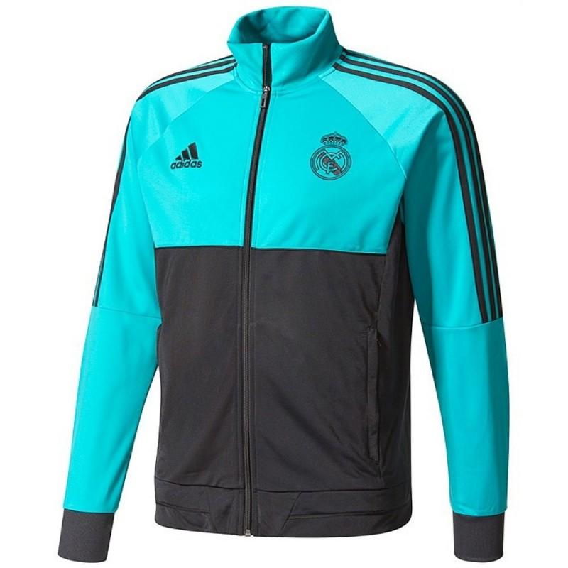 034d4132dd6f Real Madrid CF training tracksuit 2018 black light blue - Adidas