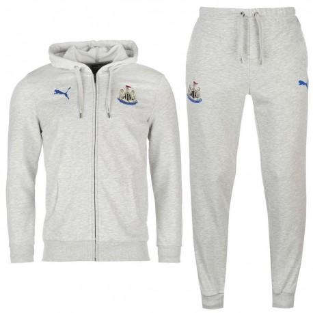 Newcastle United leisure hooded presentation suit 2017/18 light grey - Puma