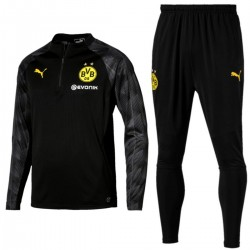 Borussia Dortmund black training technical tracksuit 2018 - Puma