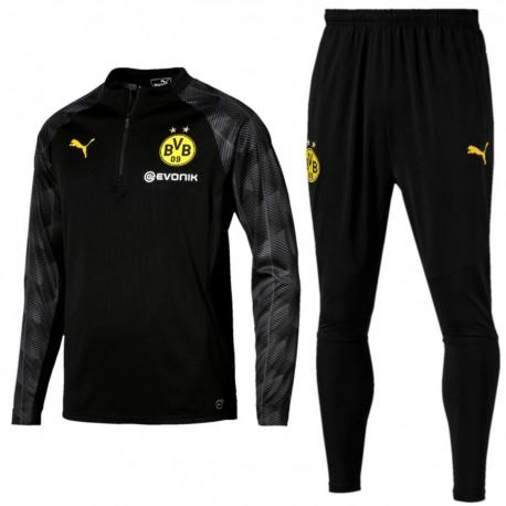 Borussia Dortmund black training technical tracksuit 2018 - Puma