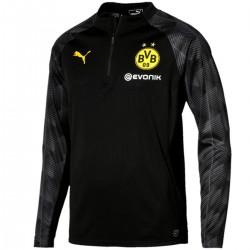 Sudadera tecnica de entreno negra Borussia Dortmund 2018 - Puma