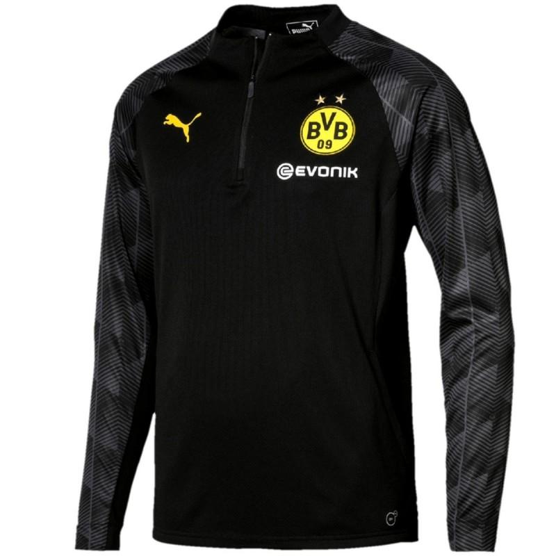 Borussia Dortmund black training technical sweatshirt 2018 - Puma