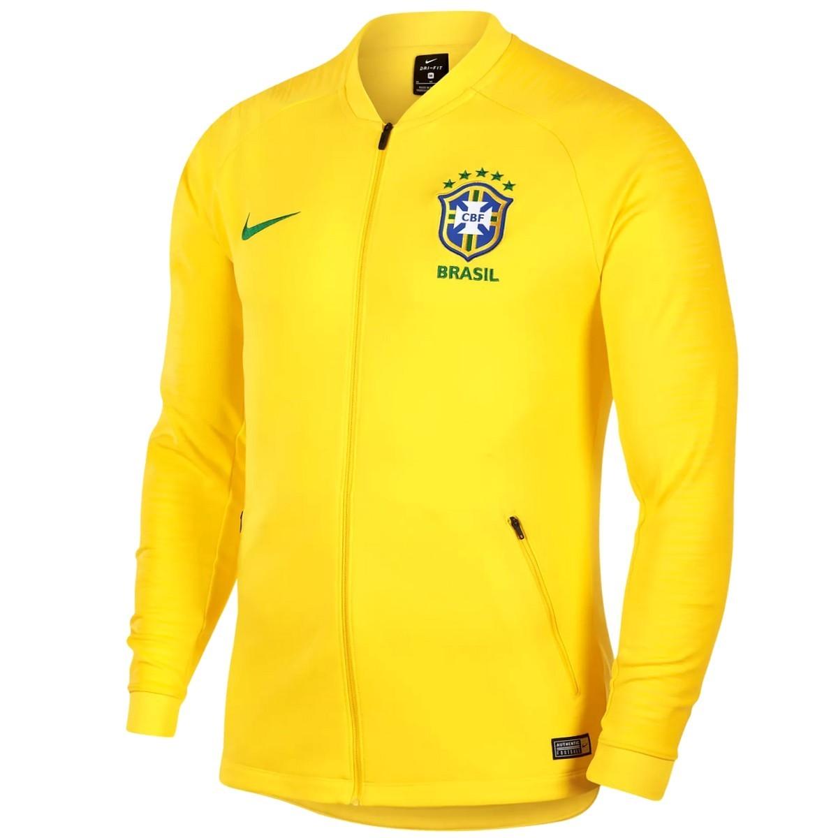 Brasilien Fussball pre match präsentationsjacke 201819