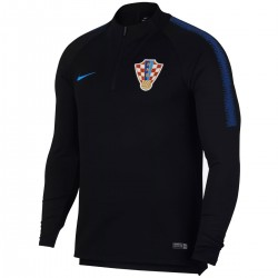 Croatia football team black tech training sweatshirt 2018/19 - Nike