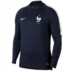 France football navy training technical sweatshirt 2018/19 - Nike