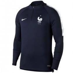 Frankreich Fussball Tech Trainingssweat  2018/19 blau - Nike