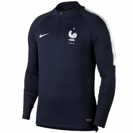 France football navy training technical sweatshirt 2018/19 - Nike