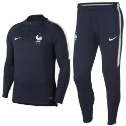Frankreich Fussball Tech Trainingsanzug 2018/19 blau - Nike