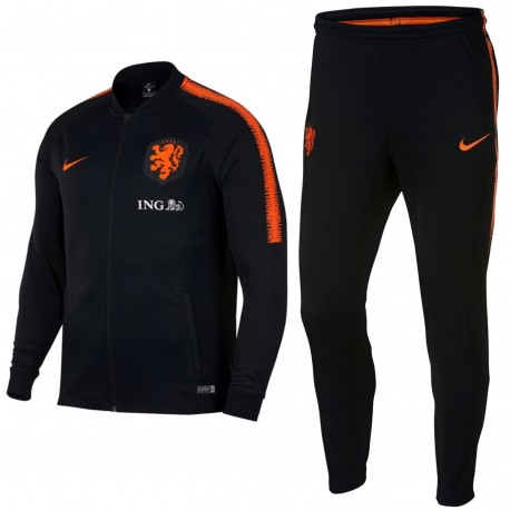 Netherlands football black training presentation tracksuit 2018/19 - Nike