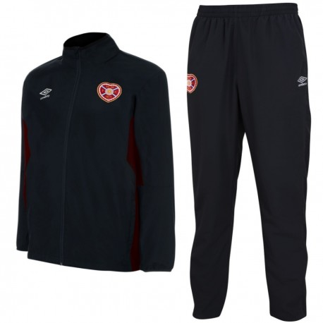 Hearts FC training Presentation tracksuit 2017/18 black - Umbro