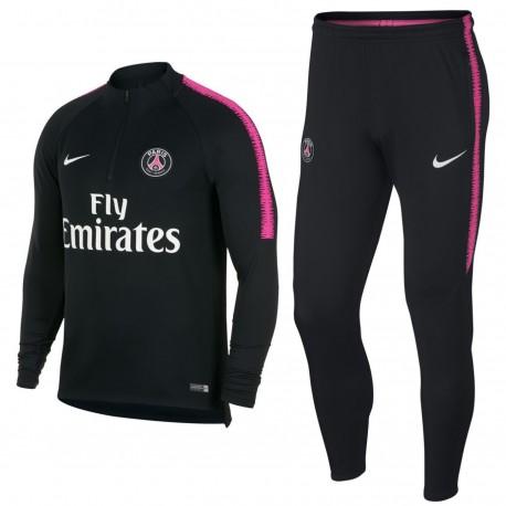 Paris Saint Germain black training technical tracksuit 2018/19 - Nike