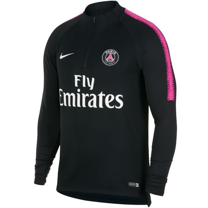 Felpa tecnica allenamento nera PSG Paris Saint Germain 2018/19 - Nike
