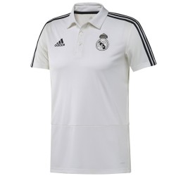 Polo da rappresentanza Real Madrid bianca 2018/19 - Adidas