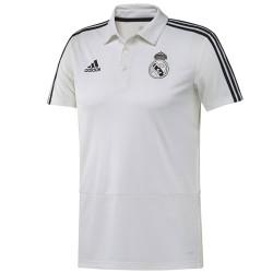 Real Madrid white presentation polo shirt 2018/19 - Adidas