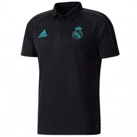 Real Madrid black presentation polo shirt 2017/18 - Adidas