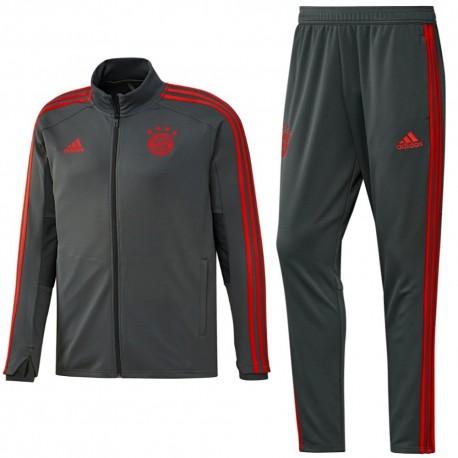 Bayern Munich grey training players tracksuit 2018/19 - Adidas