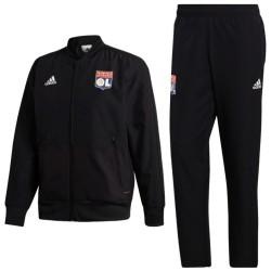 Olympique Lyon black presentation tracksuit 2018/19 - Adidas