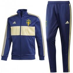 Tuta da rappresentanza Track Casual nazionale Svezia 2018/19 - Adidas