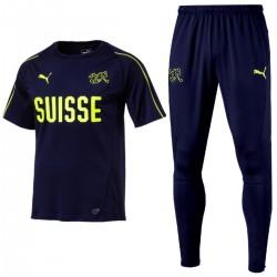 Ensemble d'entrainement Suisse 2018/19 bleu - Puma