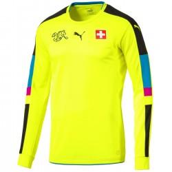 Schweiz Fussball torwart trikot 2016/17 fluo - Puma
