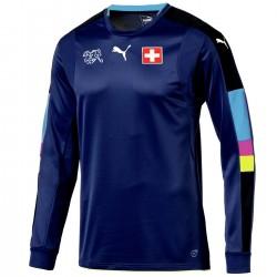 Schweiz Fussball torwart trikot 2016/17 navy - Puma