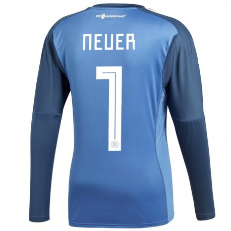 Germany Neuer 1 Home goalkeeper shirt 2018/19 - Adidas