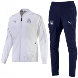 Olympique Marseille training Präsentationsanzug 2018/19 weiss/blau - Puma