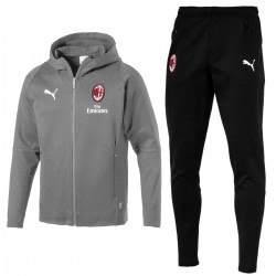 AC Milan casual presentation sweat tracksuit 2018/19 grey - Puma