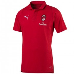 AC Milan red Casual presentation polo 2018/19 - Puma