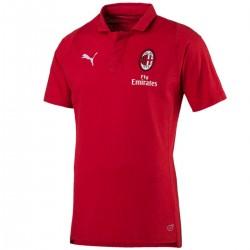 Polo da rappresentanza Casual rossa AC Milan 2018/19 - Puma