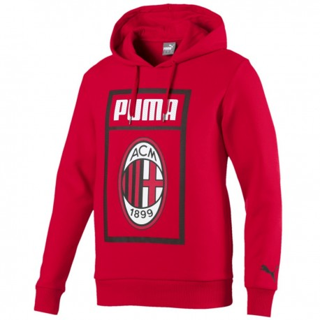 Felpa da rappresentanza Fan rossa AC Milan 2018/19 - Puma