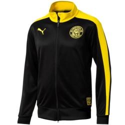 Chaqueta de presentación negra T7 Borussia Dortmund 2018/19 - Puma