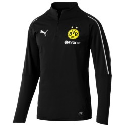 Tech sweat top d'entrainement BVB Borussia Dortmund 2018/19 noir - Puma