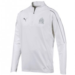 Olympique Marseille white training technical sweatshirt 2018/19 - Puma