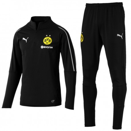 BVB Borussia Dortmund black training technical suit 2018/19 - Puma