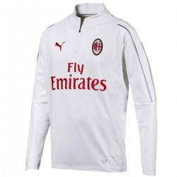 Tech sweat top d'entrainement AC Milan 2018/19 blanc - Puma