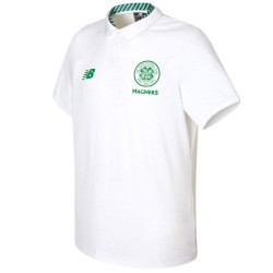 Polo da rappresentanza bianca Celtic Glasgow 2017/18 - New Balance