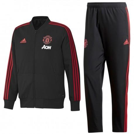Tuta da rappresentanza nera Manchester United 2018/19 - Adidas